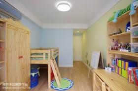 简约儿童房实木家具效果图