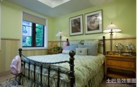 田园风格新房卧室布置图片