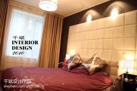 现代简约风格卧室窗帘装修图片