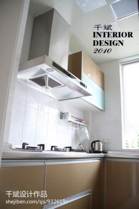 现代简约风格厨房不锈钢橱柜装修图片