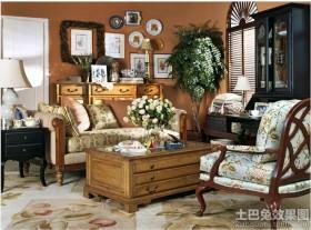 田园风格客厅美克美家家具沙发图片