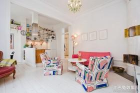 单身公寓客厅沙发摆设效果图欣赏