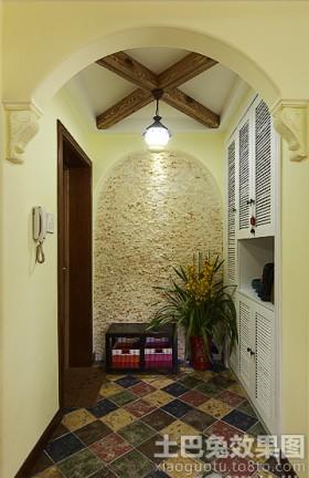 地中海风格小户型玄关设计效果图