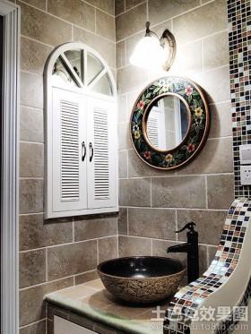 中式洗手间墙面马赛克贴图