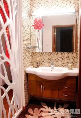 婚房洗手间墙面拼花马赛克贴图