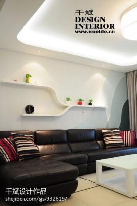 60平米现代小户型家居装修客厅图片