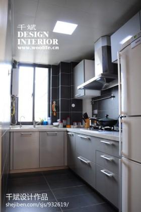 小户型厨房整体橱柜设计效果图