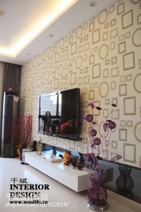 现代壁纸电视墙装修设计图片