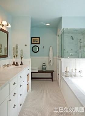 地中海风格卫生间洗脸盆柜组合