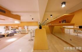 日式风格别墅厨房射灯效果图