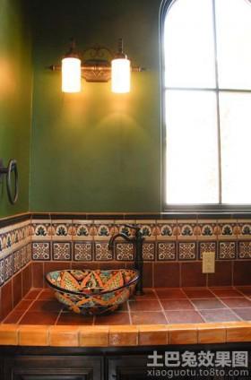 东南亚风格洗手盆效果图片