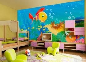儿童风格手绘墙画图片大全