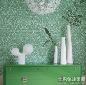 现代中式墙纸贴图