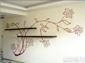 简约风格经典手绘墙画图片