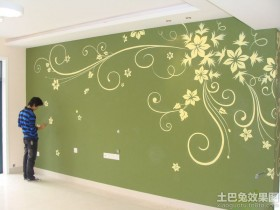 植物手绘墙画图片欣赏
