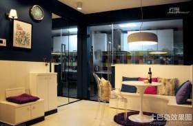 现代风格小户型客厅挂钟效果图