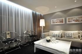 客厅装修新中式落地灯效果图