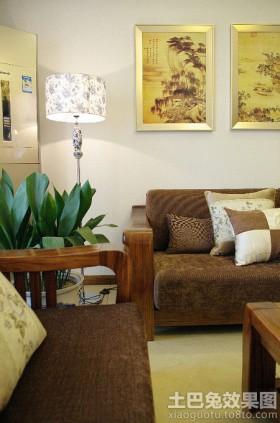 现代中式客厅落地灯图片