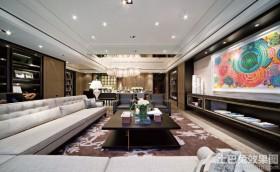 现代简约客厅室内装饰壁画图片欣赏