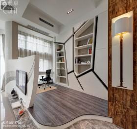 创意书房壁柜装修效果图大全2013图片