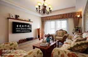 田园小户型客厅电视背景墙装修效果图大全2013图片
