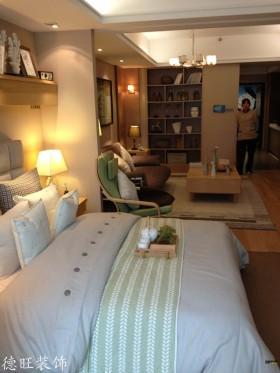 30平米小户型客厅卧室一体效果图