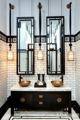 现代中式卫生间内墙砖贴图图片