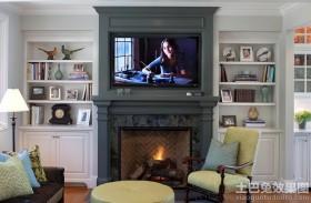 客厅壁炉电视墙效果图