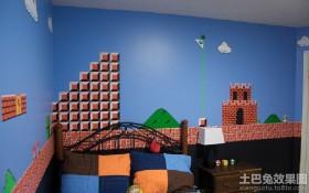 儿童房创意手绘涂鸦墙效果图片欣赏
