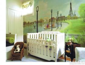 儿童房欧式风景壁画图片