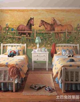 儿童卧室欧式壁画贴图