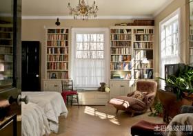 欧式风格卧室家用书柜效果图