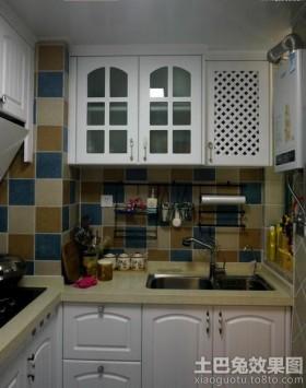 地中海风格厨房墙砖效果图