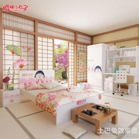 儿童房榻榻米床垫效果图