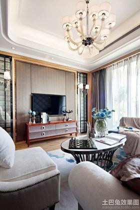 电视背景墙简欧风格简欧客厅电视背景墙效果图片大全