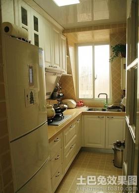 狭长型宜家厨房设计效果图
