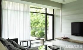 客厅阳台窗帘效果图片欣赏
