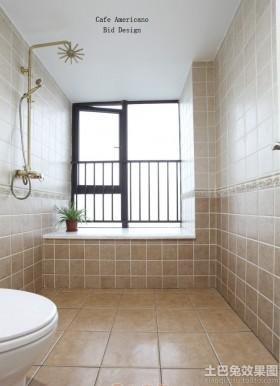 简欧风格卫生间墙面瓷砖装修效果图