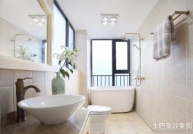 卫生间洗手盆效果图