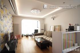 现代风格小户型客厅电视机壁纸背景墙效果图欣赏