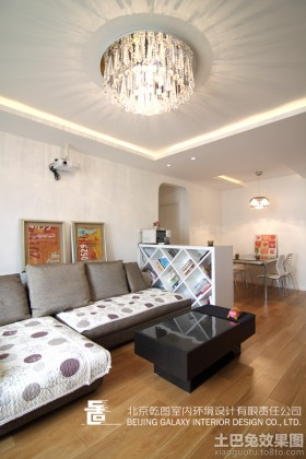现代风格小户型客厅吊顶装修效果图片大全
