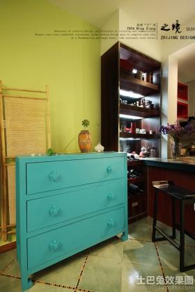 室内蓝色置物柜图片欣赏