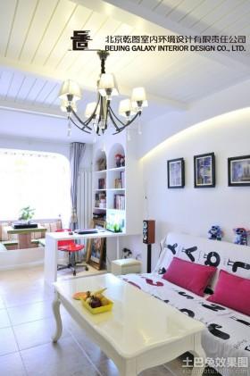 简欧70平米小户型客厅吊顶有梁设计图