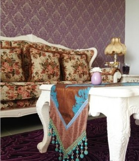 欧式风格客厅沙发茶几效果图