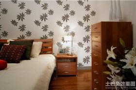 后现代风格卧室墙纸贴图图片