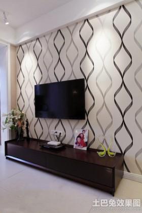 简约现代风格电视墙墙纸贴图图片