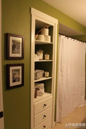 卫生间浴帘效果图图片