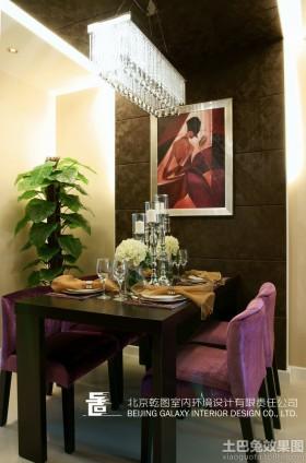 餐厅方形水晶灯装修效果图欣赏