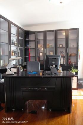 简约书房书柜装修效果图欣赏
