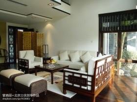 中式风格客厅沙发装修效果图欣赏